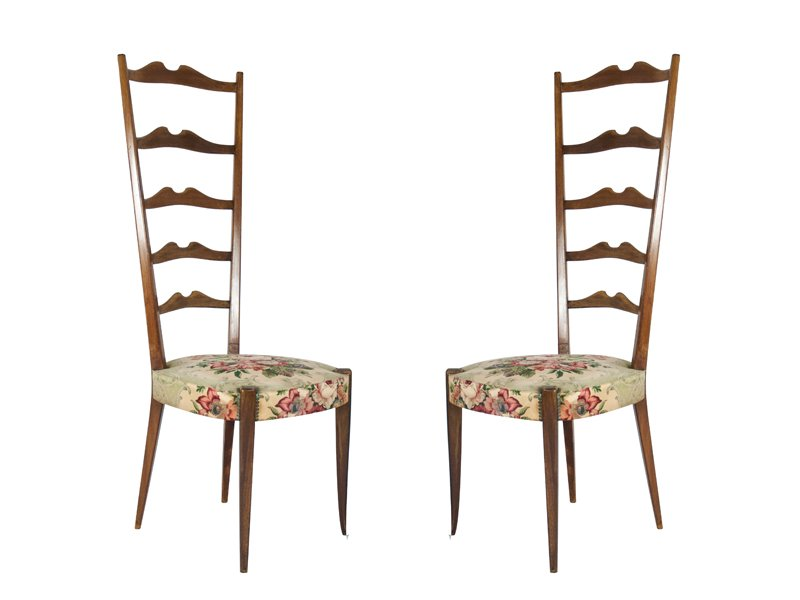 Italian High Back Chairs From Minotti, 1950s, Set Of 2