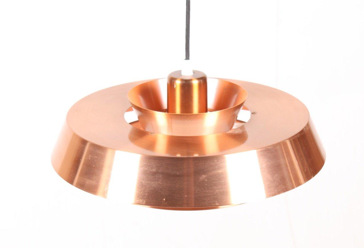 nova deckenlampe aus kupfer von jo hammerborg f r fog m rup 1960er bei pamono kaufen. Black Bedroom Furniture Sets. Home Design Ideas