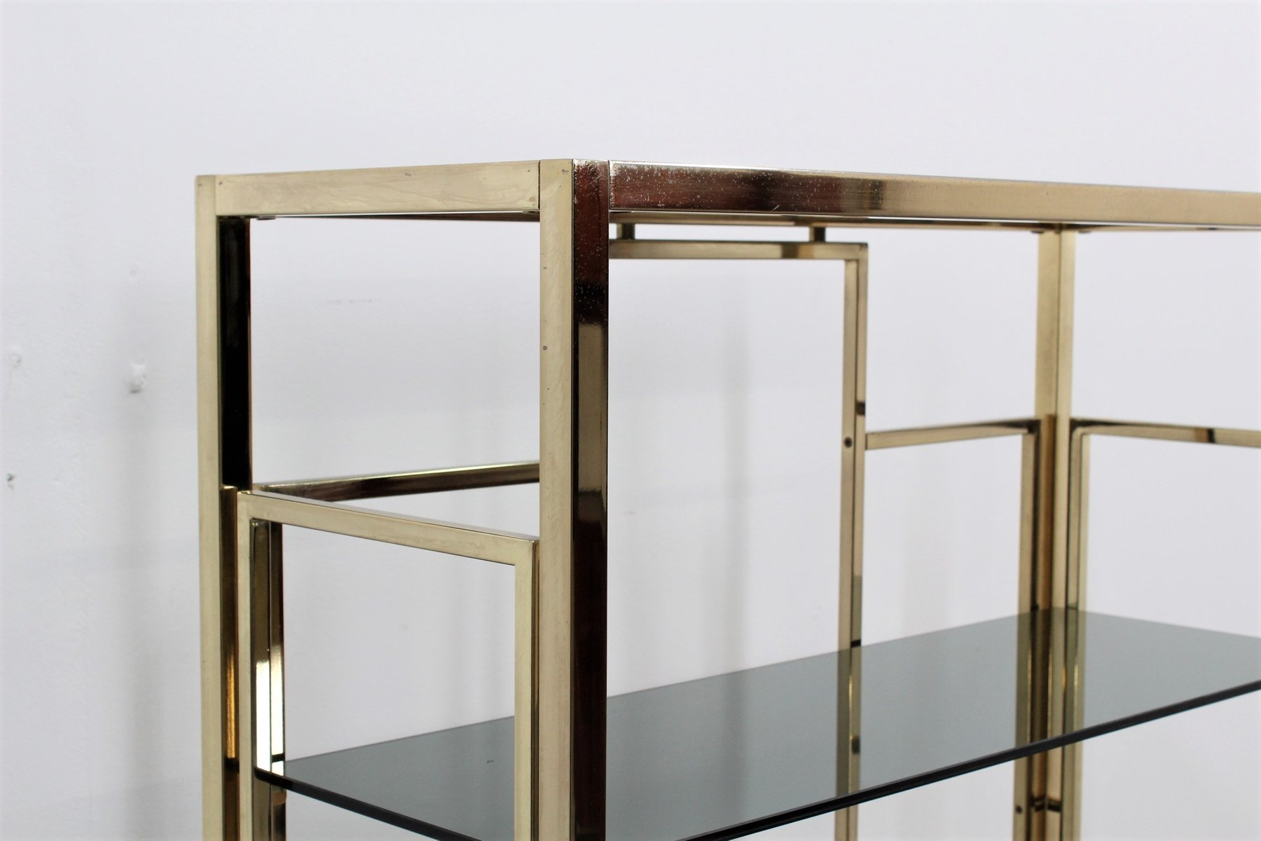 Vintage brass etagere by romeo rega 1970s for sale at pamono - Etagere string vintage ...