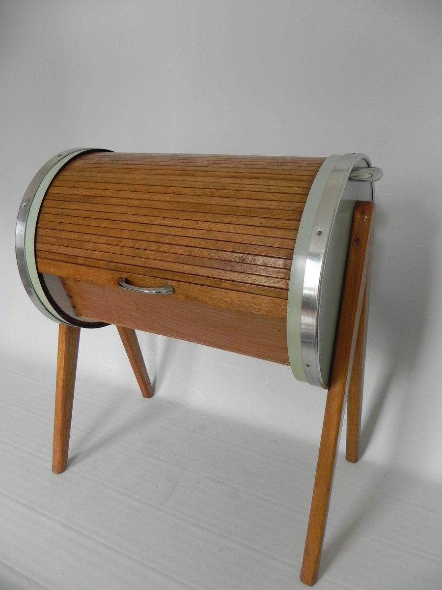 n hkasten mit rollt r 1950er bei pamono kaufen. Black Bedroom Furniture Sets. Home Design Ideas