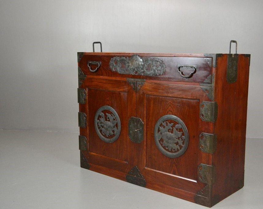 Vintage Korean Camphor Wood Cabinet Sideboard for sale at Pamono