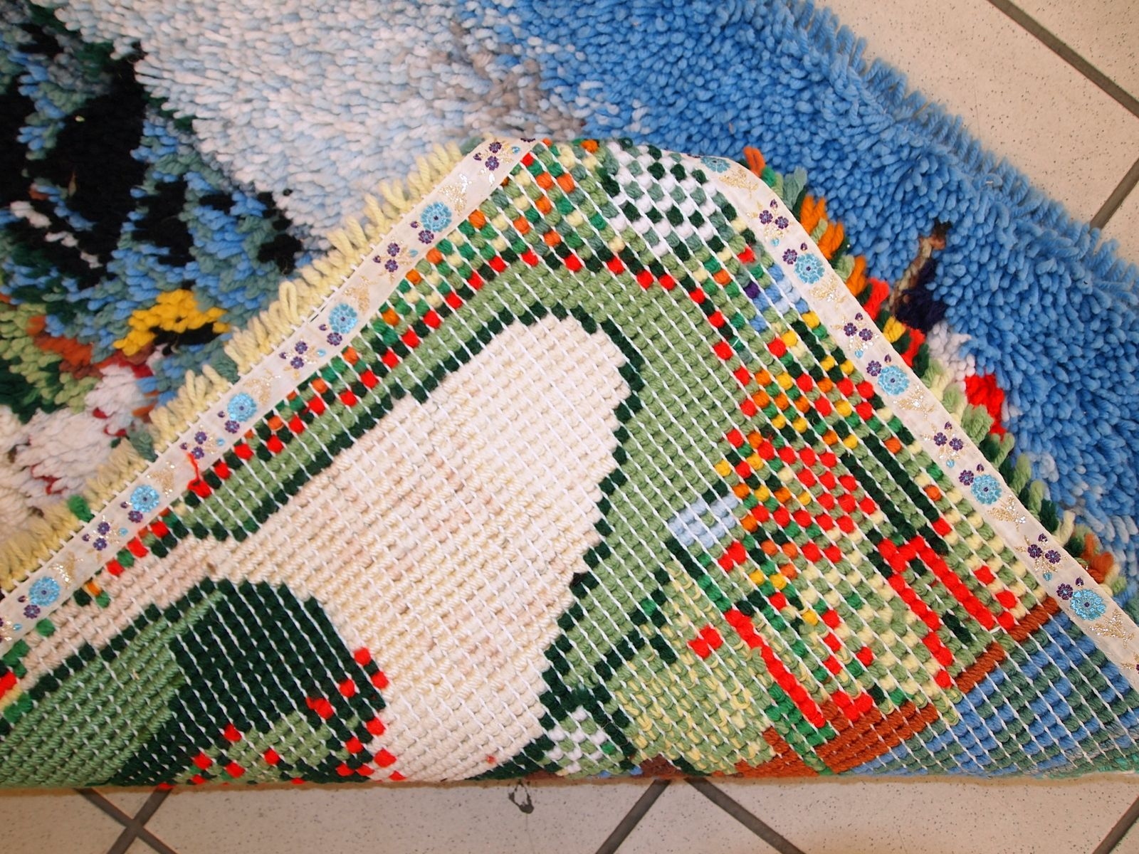 Vintage American Handmade Terrasse u00e0 Sainte Adresse Hooked