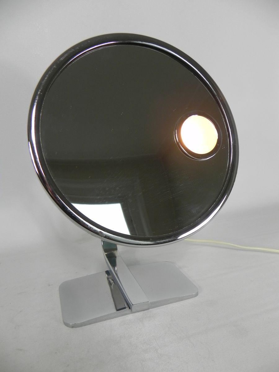 miroir avec clairages de coiffeuse 1960s en vente sur pamono. Black Bedroom Furniture Sets. Home Design Ideas