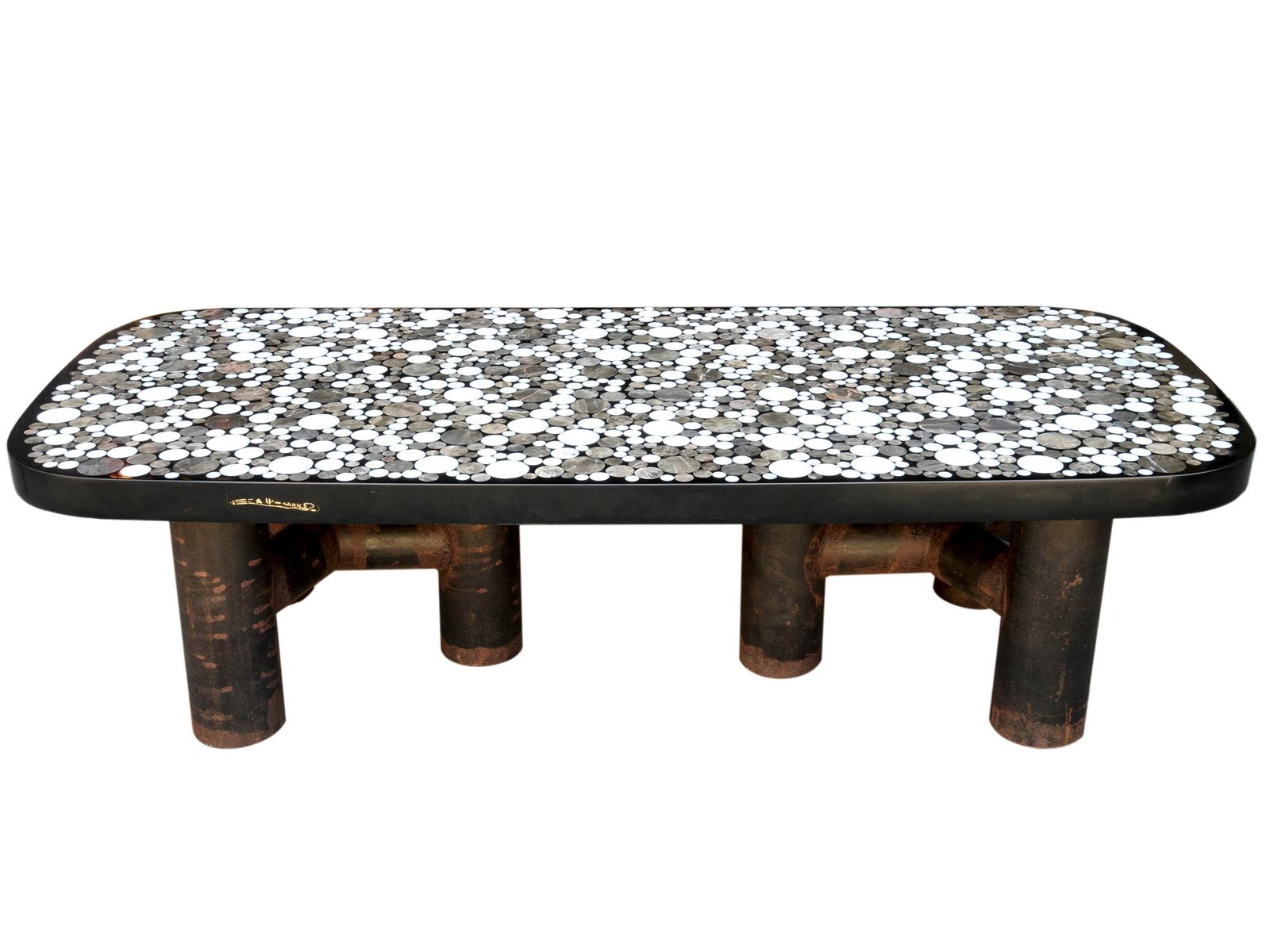Coffee Table With Marble Inlay By Etienne Allemeersch, 1970s