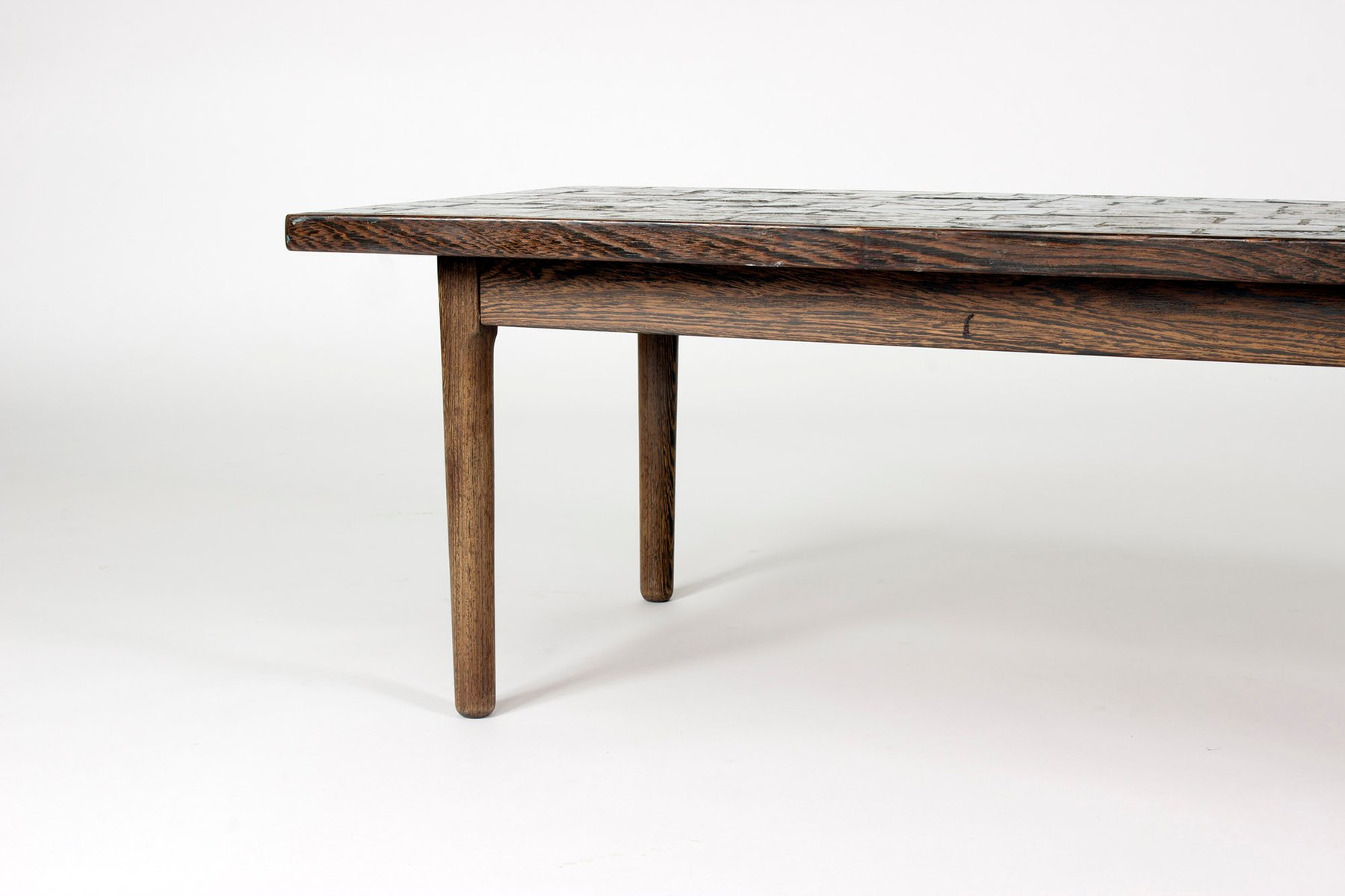 Wenge And Stoneware Coffee Table By Bj Rn Wiinblad 1960s For Sale At Pamono