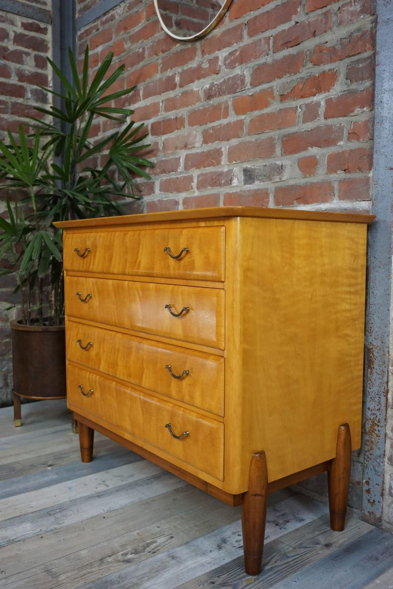 commode tiroirs en citronnier italie 1960s en vente sur pamono. Black Bedroom Furniture Sets. Home Design Ideas