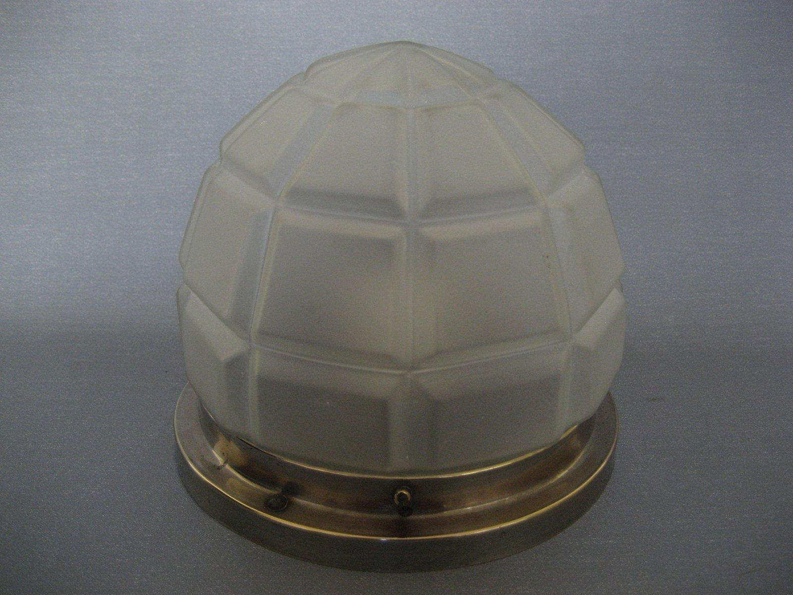 art deco deckenlampe aus verchromten messing glas 1930er bei pamono kaufen. Black Bedroom Furniture Sets. Home Design Ideas