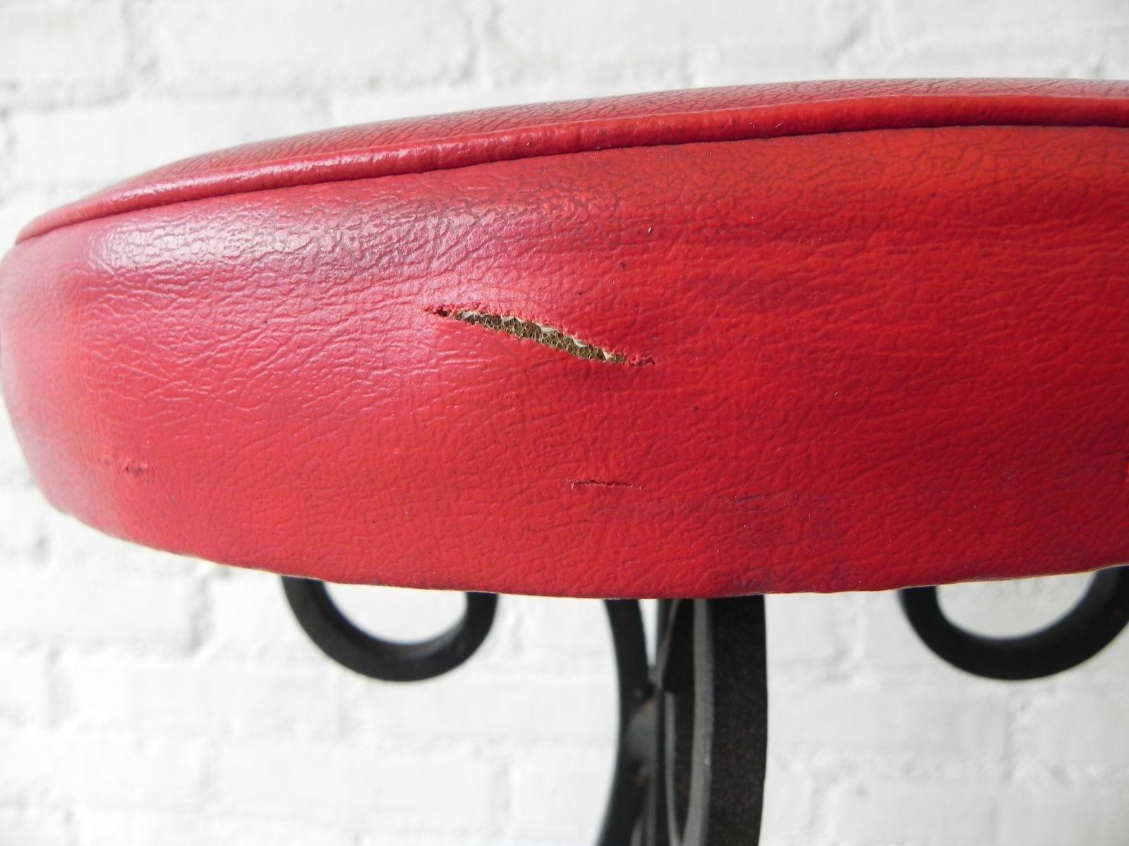 Belgischer barhocker in schwarz rot bei pamono kaufen for Barhocker in rot