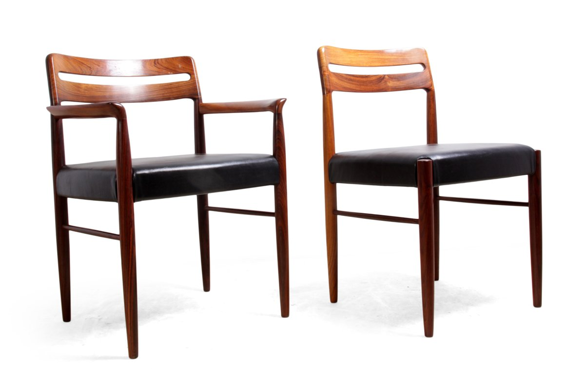 Dining chairs by h w klein for bramin 1960s set of 6 for for Set of 6 dining chairs