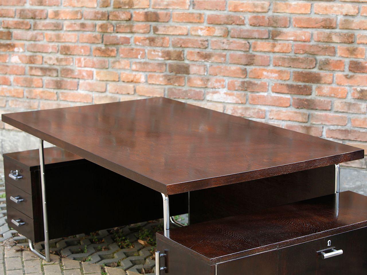 gro er architekten schreibtisch von m cke melder 1930er. Black Bedroom Furniture Sets. Home Design Ideas