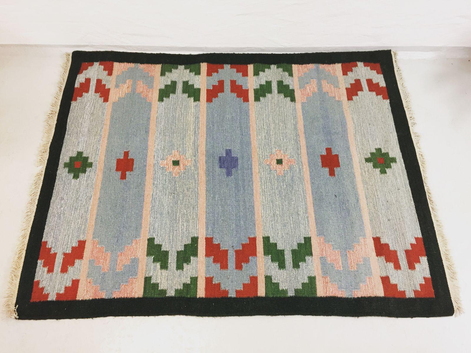 midcentury scandinavian flatweave rug for sale at pamono - midcentury scandinavian flatweave rug