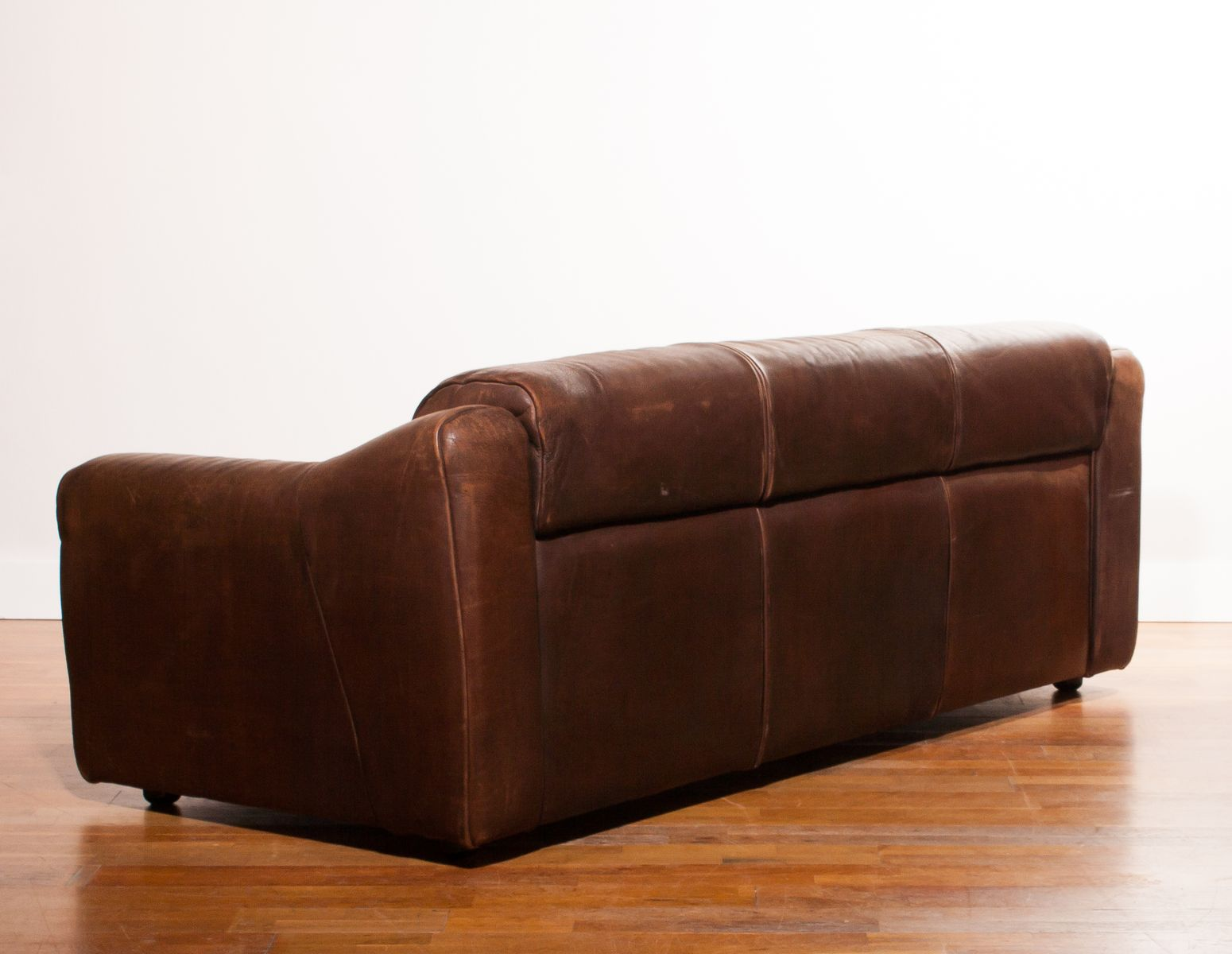 Buffalo Leather 3 Seater Sofa 1970s For Sale At Pamono