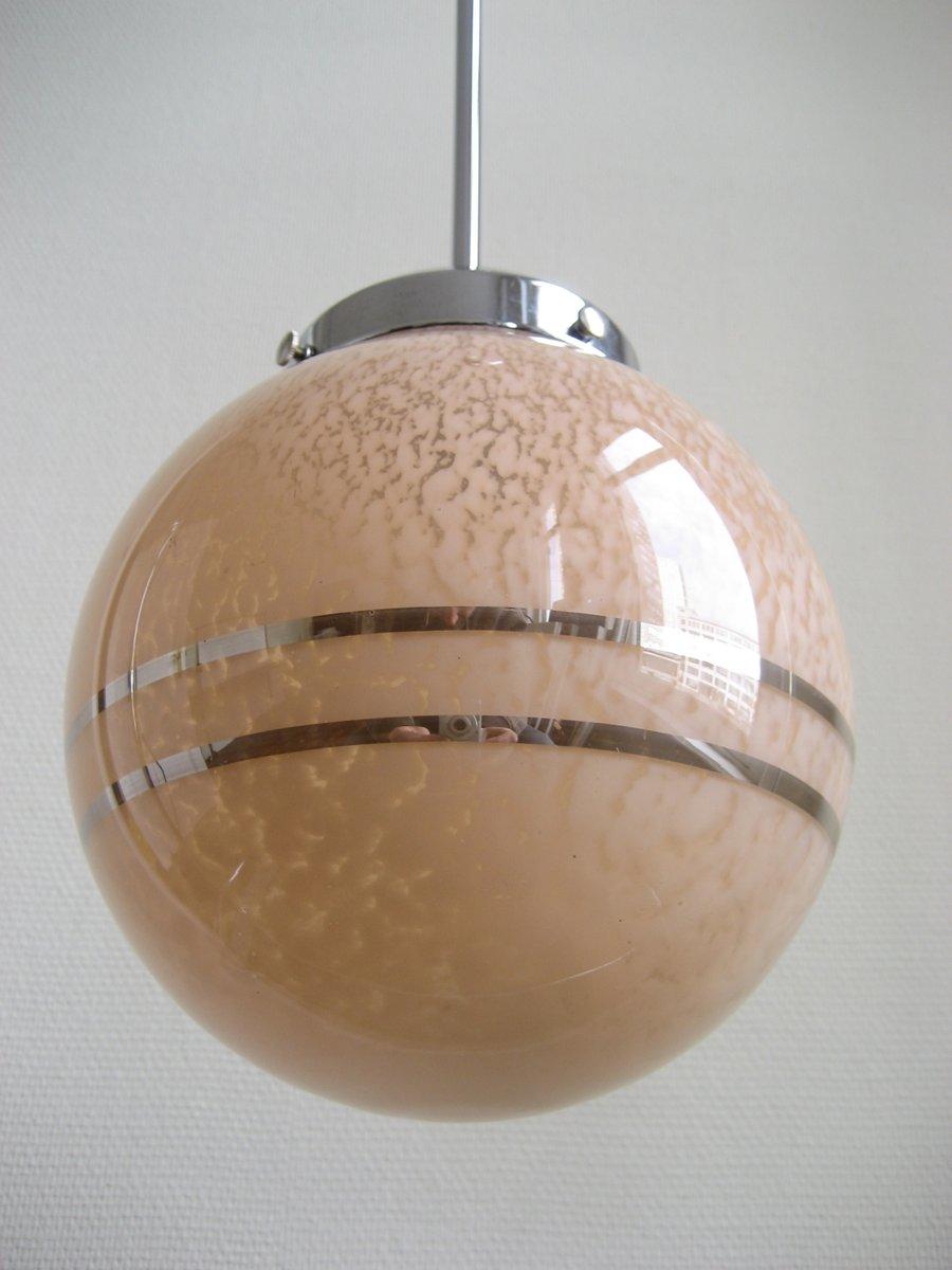 french art deco glass globe pendant for sale at pamono - french art deco glass globe pendant