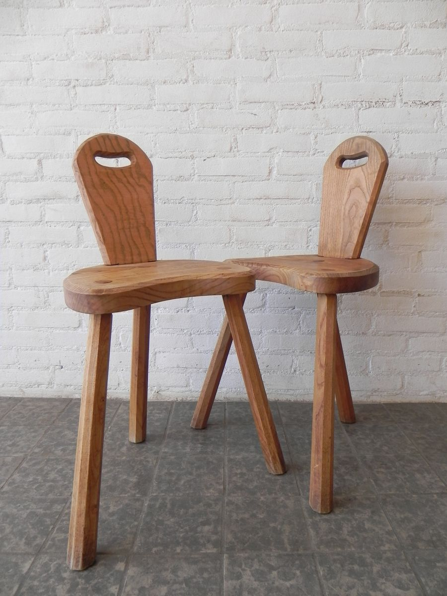 French oak side chairs set of 2 for sale at pamono for Side chairs for sale