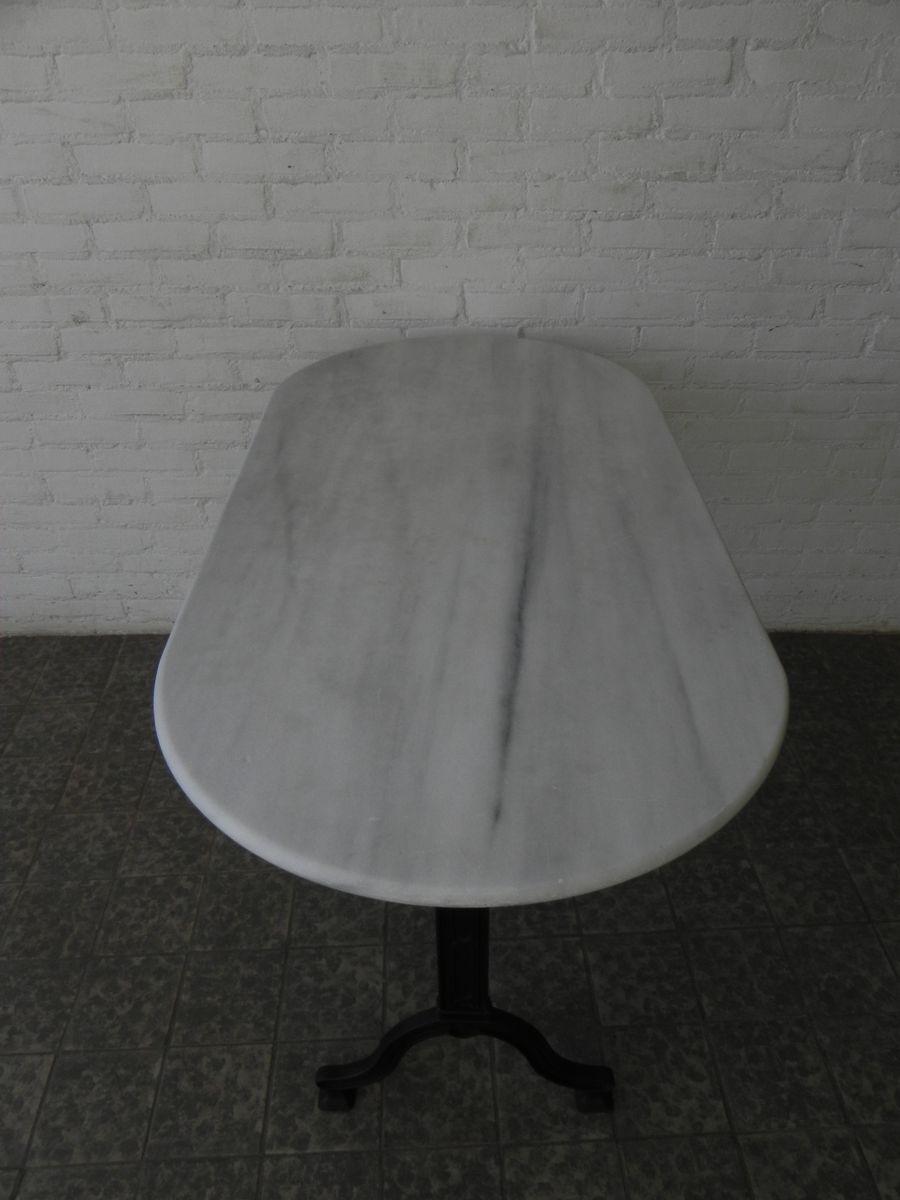 bistrotisch mit gusseisen gestell und marmorplatte von serex bei pamono kaufen. Black Bedroom Furniture Sets. Home Design Ideas