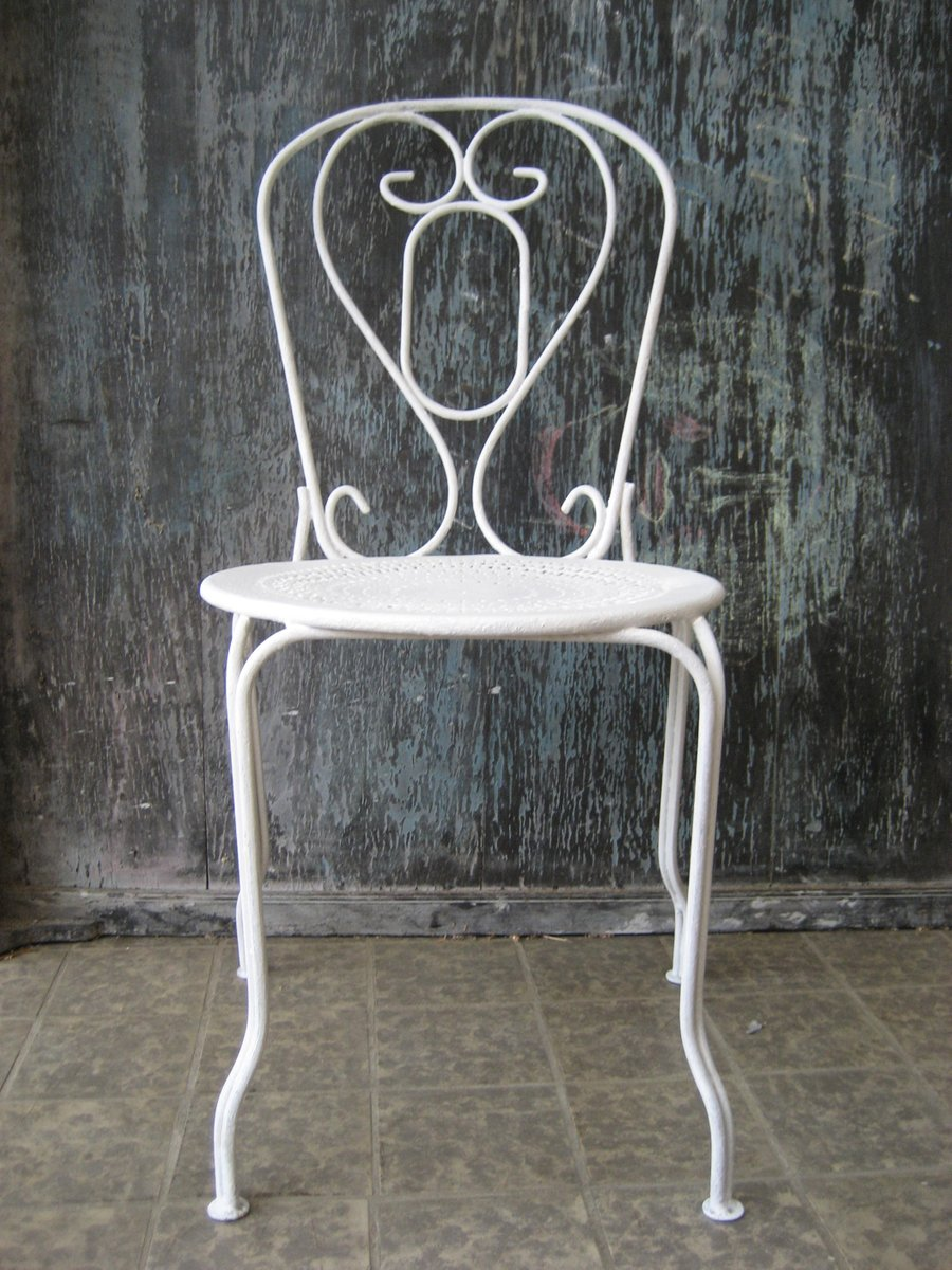 Chaise de Jardin Vintage en Métal, France en vente sur Pamono