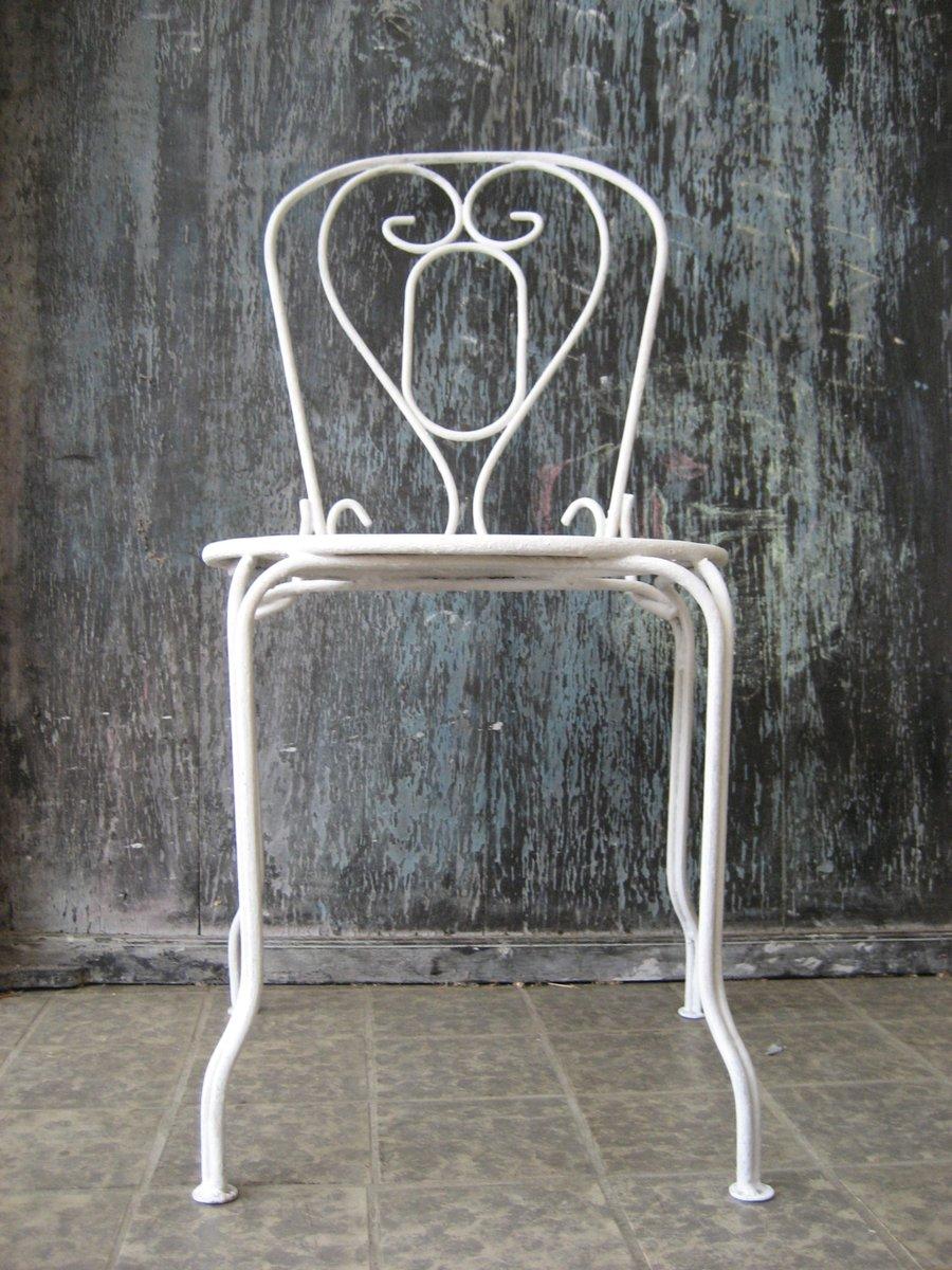 franz sischer vintage metall gartenstuhl bei pamono kaufen. Black Bedroom Furniture Sets. Home Design Ideas