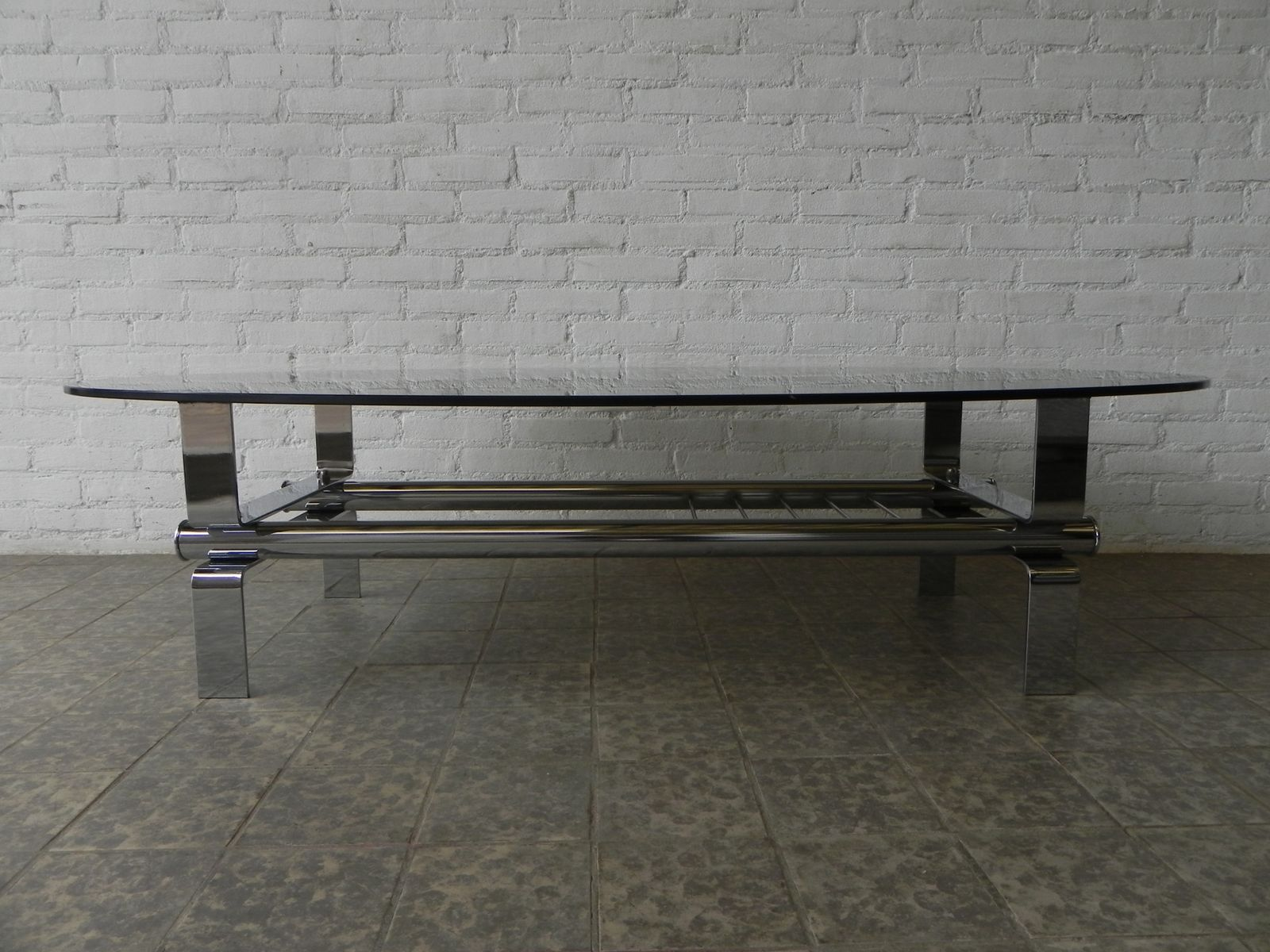 table basse verre fume vintage. Black Bedroom Furniture Sets. Home Design Ideas