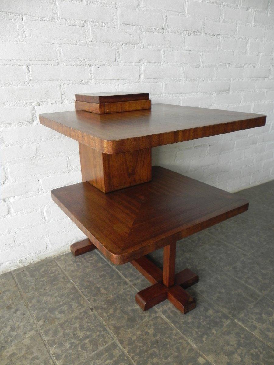 art deco beistelltisch mit zwei tischplatten bei pamono kaufen. Black Bedroom Furniture Sets. Home Design Ideas