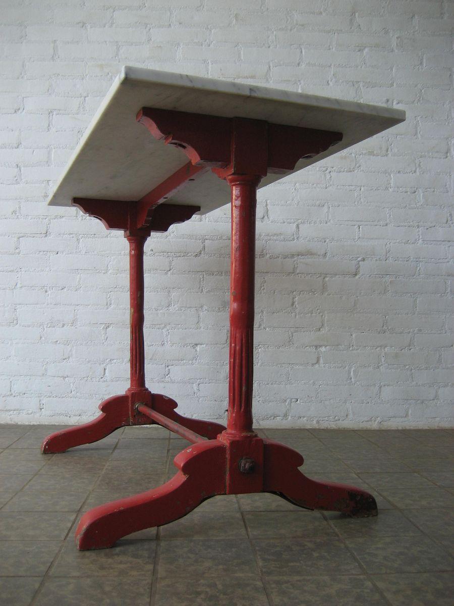 Franz sischer bistrotisch aus eichenholz marmor bei for Bistrotisch marmor