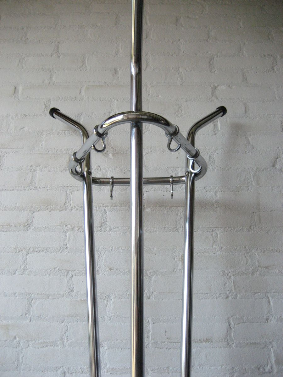 vintage chrome coat rack for sale at pamono - vintage chrome coat rack   price per piece