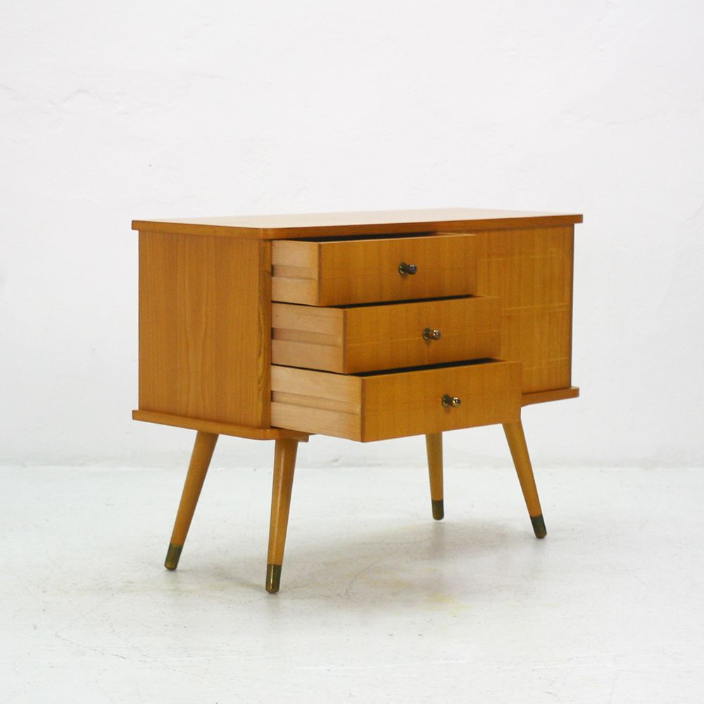 small commode in ash 1950s for sale at pamono. Black Bedroom Furniture Sets. Home Design Ideas