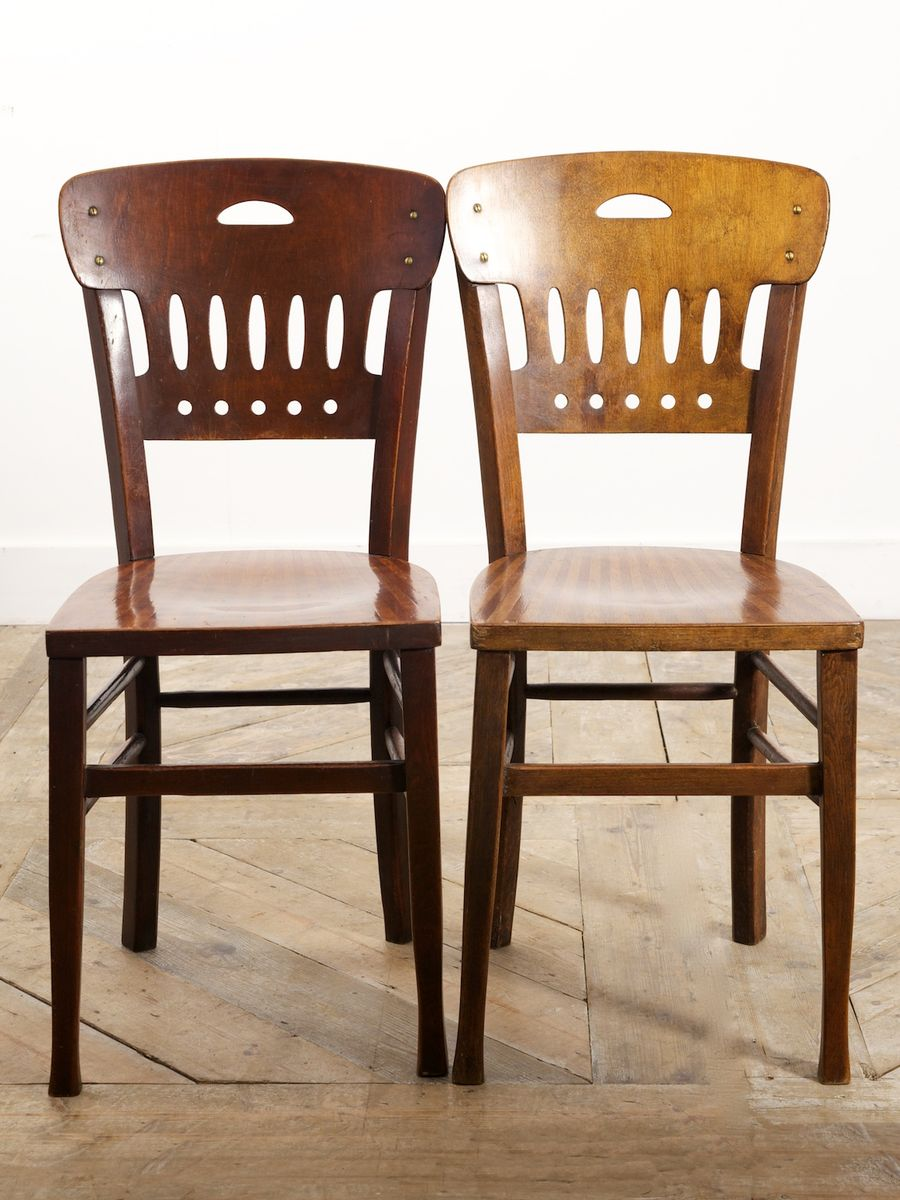 caf st hle 1930er 4er set bei pamono kaufen. Black Bedroom Furniture Sets. Home Design Ideas