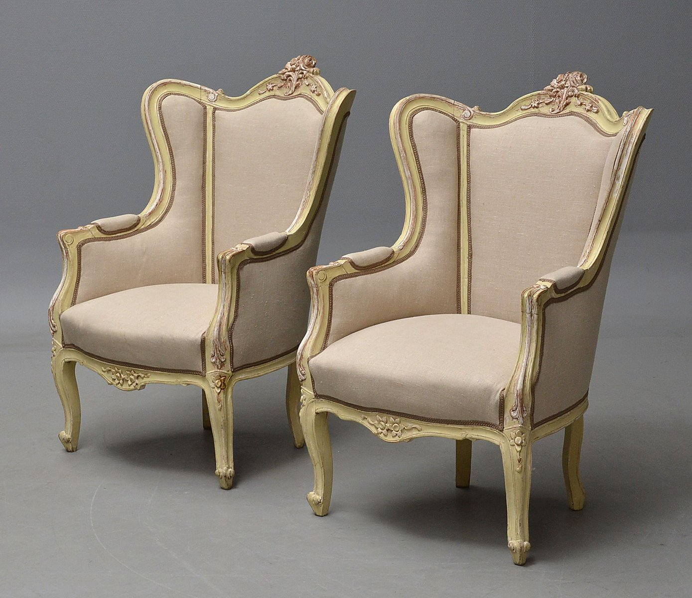 Price per set - Antique French Bergère Chairs, Set Of 2 For Sale At Pamono