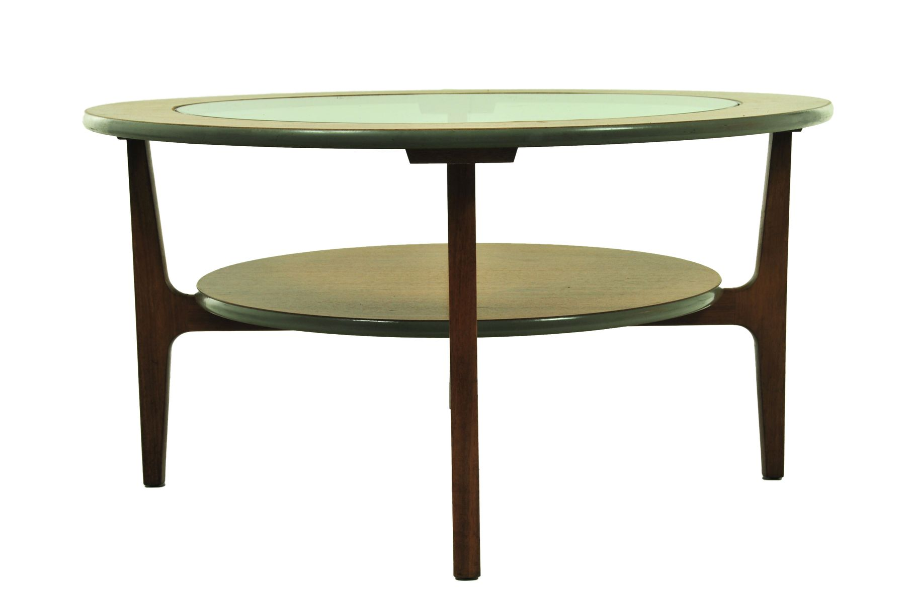 table basse vintage ronde avec plateau en verre 1960s en vente sur pamono. Black Bedroom Furniture Sets. Home Design Ideas