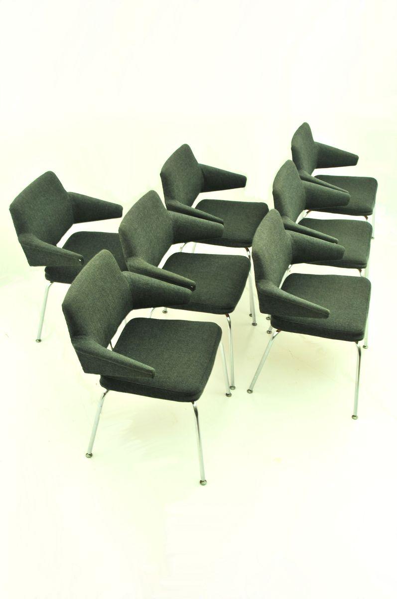 esszimmerst hle mit niedrigen armlehnen von duba 1970er. Black Bedroom Furniture Sets. Home Design Ideas