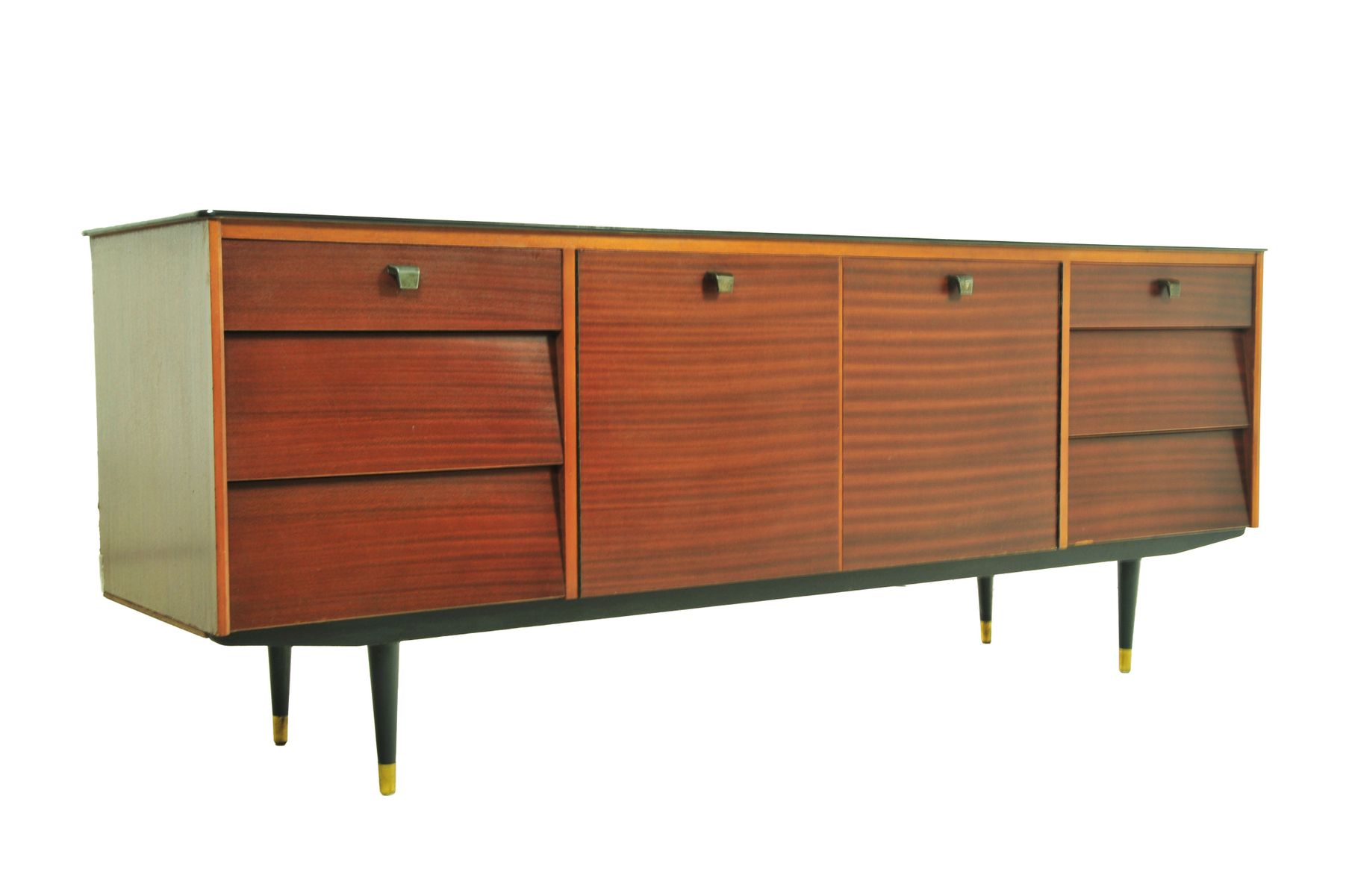 Teak sideboard with two doors 1950s for sale at pamono for 1950 s credenza