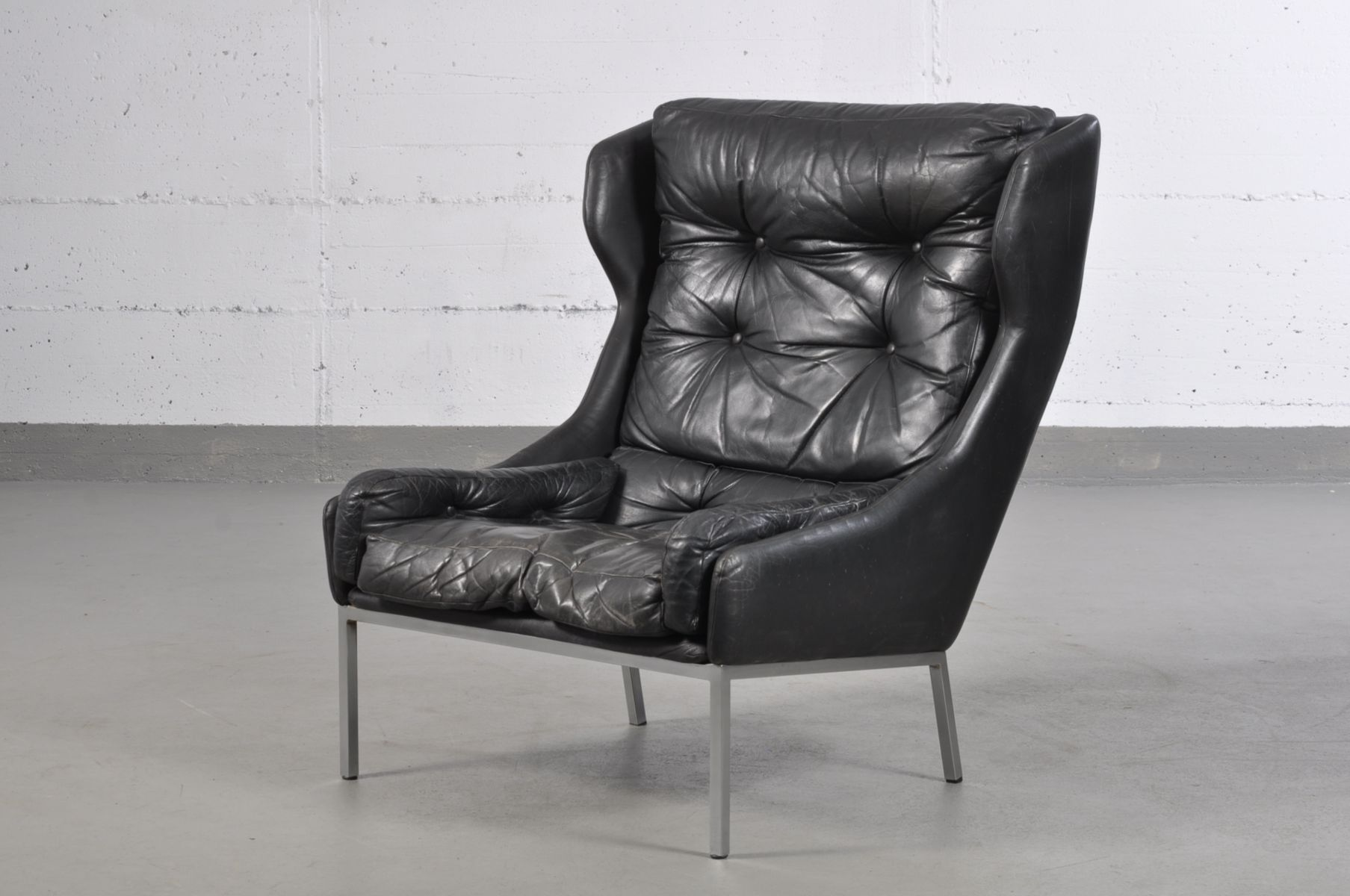 sterreichischer ohrensessel von wk m bel 1960er bei. Black Bedroom Furniture Sets. Home Design Ideas