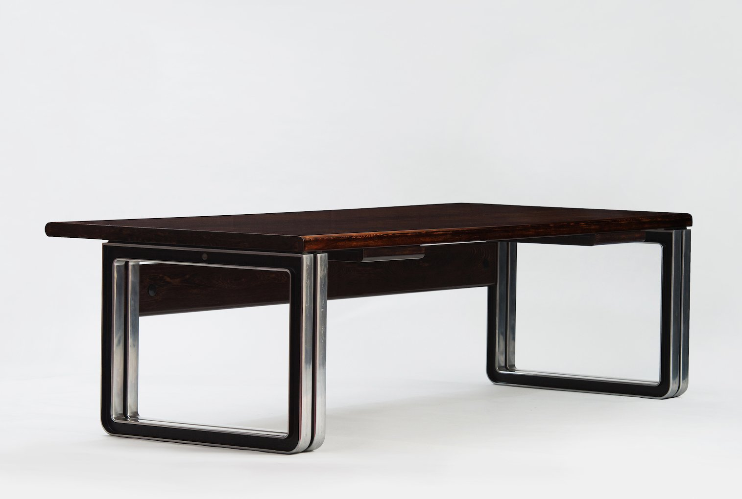 Vintage Wenge Desk By Osvaldo Borsani For Tecno