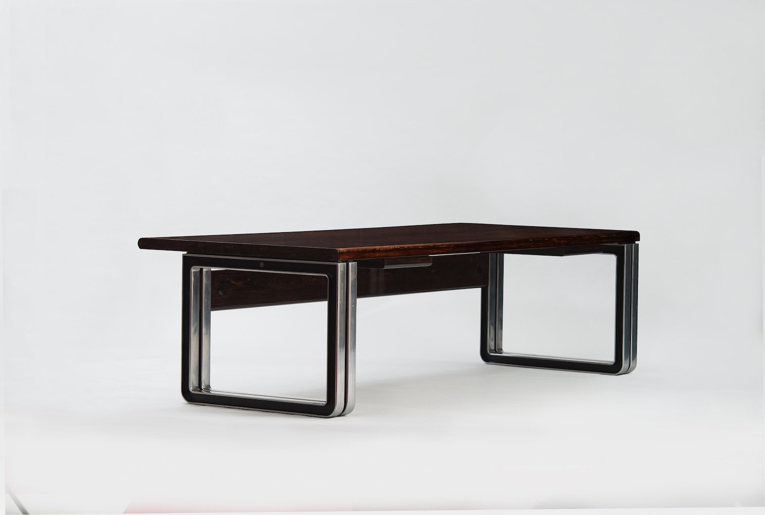 Vintage Wenge Desk by Osvaldo Borsani for Tecno for sale at Pamono