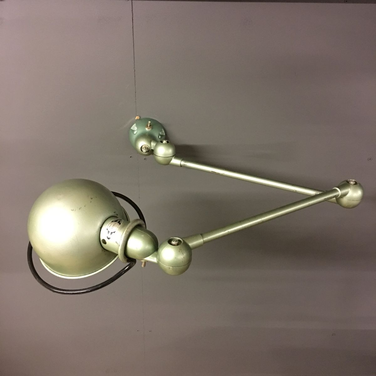 lampe d atelier industrielle par jean domecq pour jield en vente sur pamono. Black Bedroom Furniture Sets. Home Design Ideas