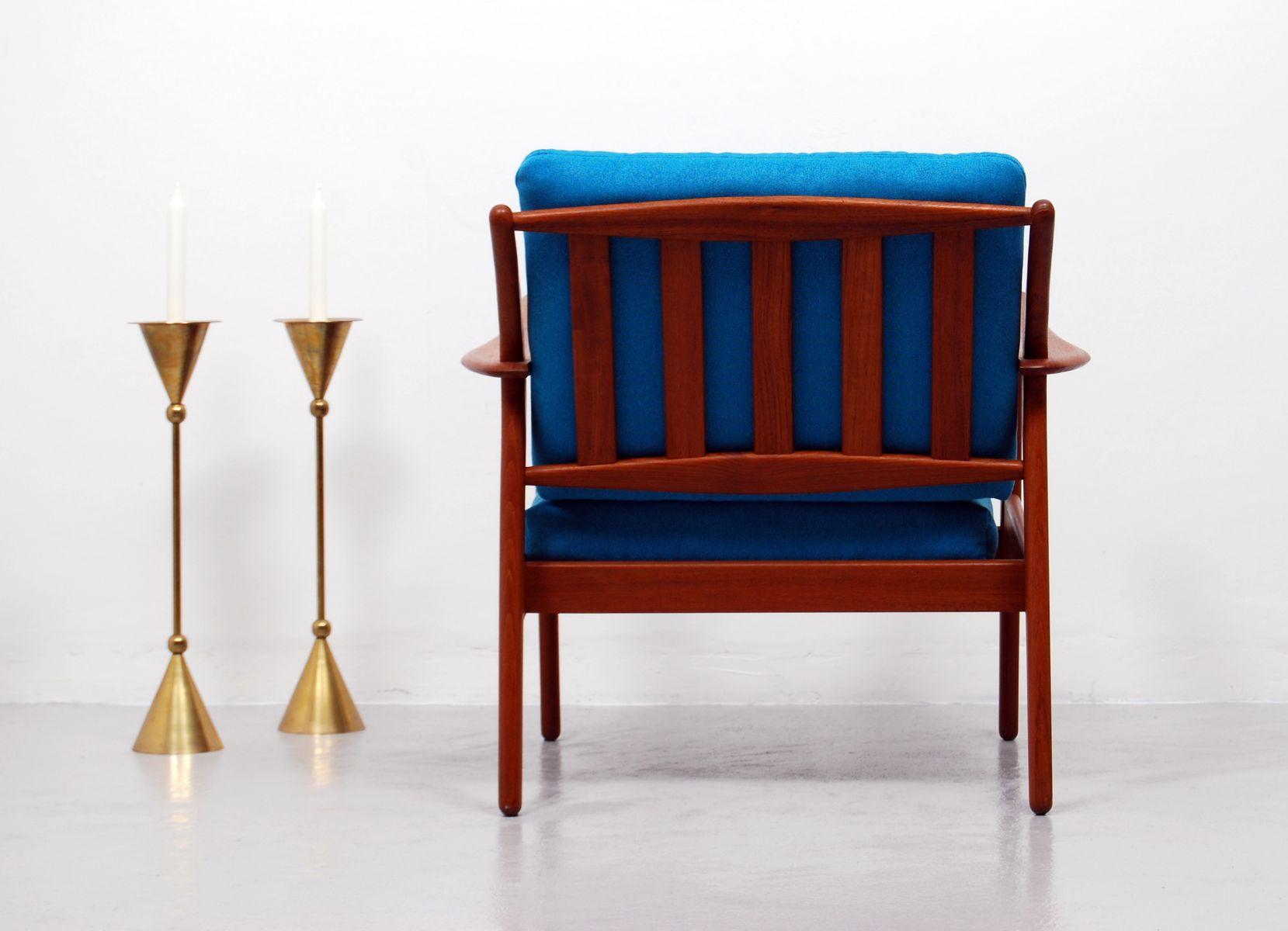 Vintage Danish Hans Teak Lounge Chair by Niels Koefoed for Hornslet Møbelfabr