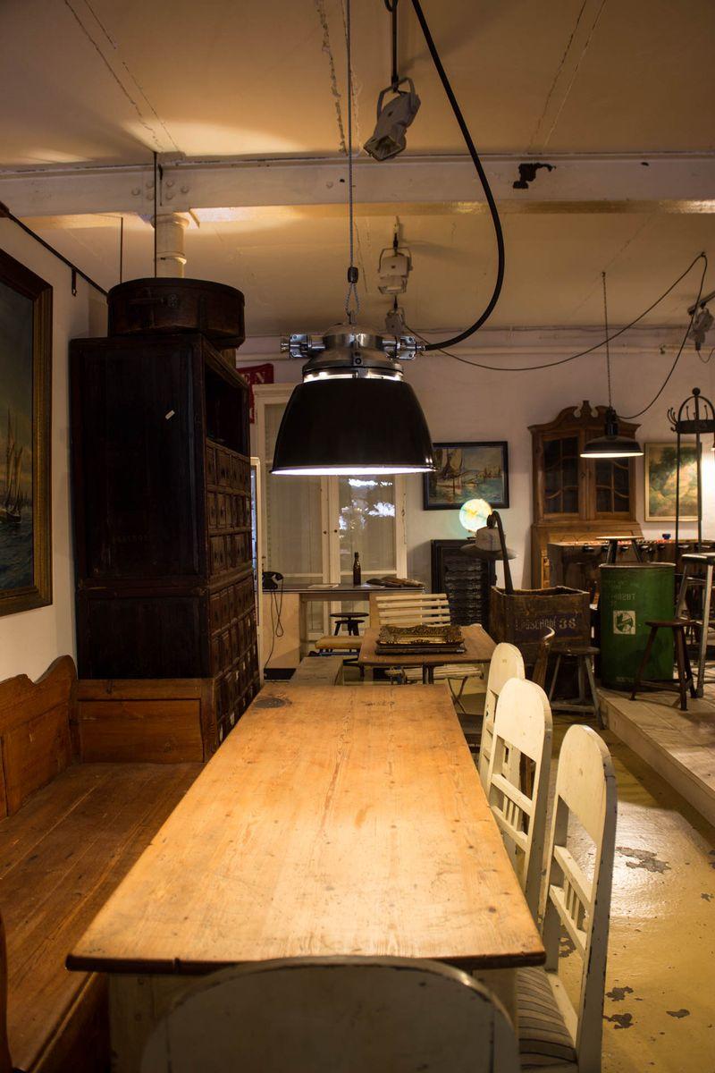 industrial ralph ii bunker lamp for sale at pamono. Black Bedroom Furniture Sets. Home Design Ideas