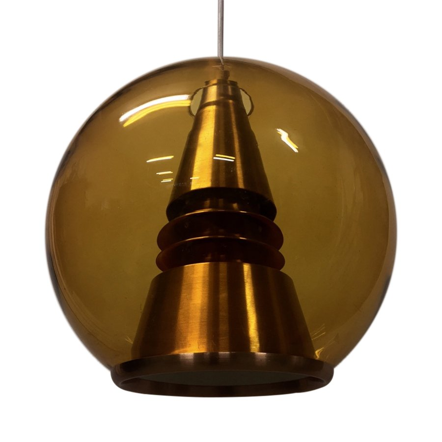 norwegian space age pendant lamp from t r ste co 1960s for sale at pamono. Black Bedroom Furniture Sets. Home Design Ideas