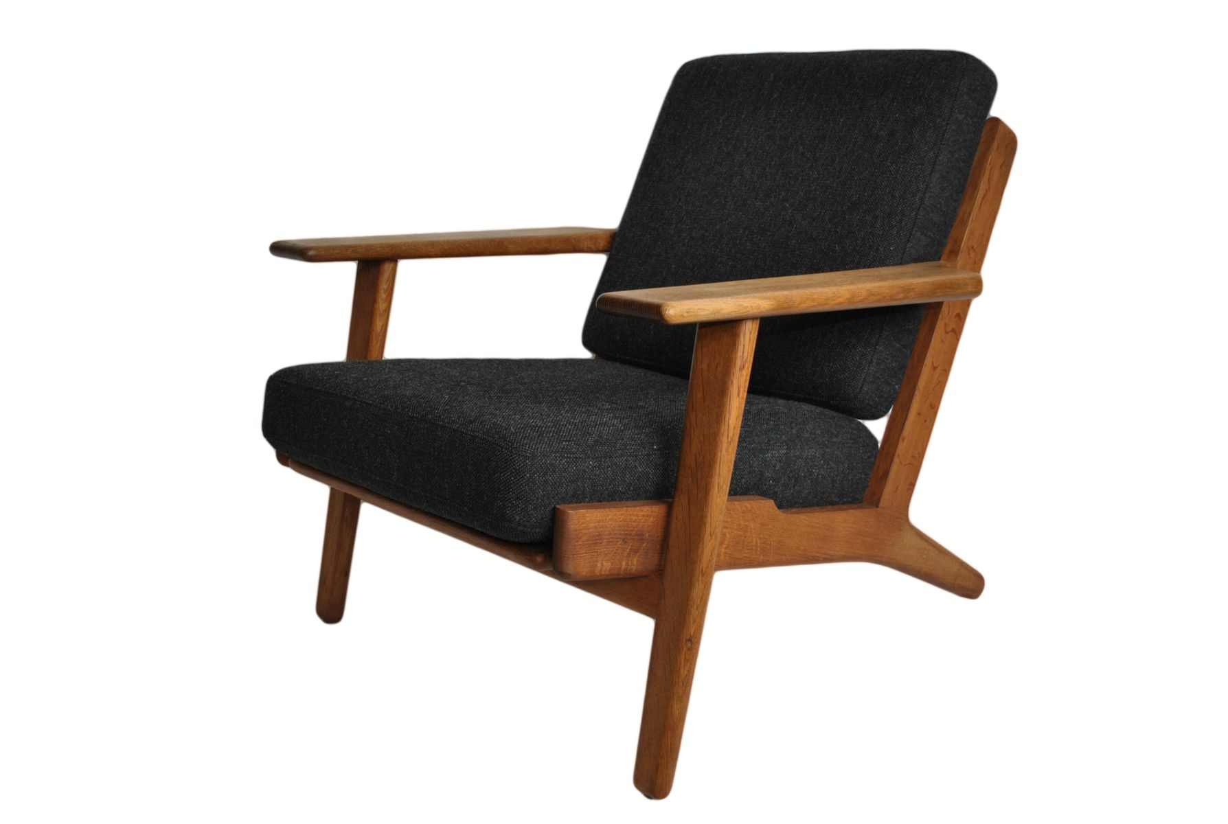 GE290 Oak Lounge Chair By Hans Wegner For Getama 1950s For Sale At Pamono