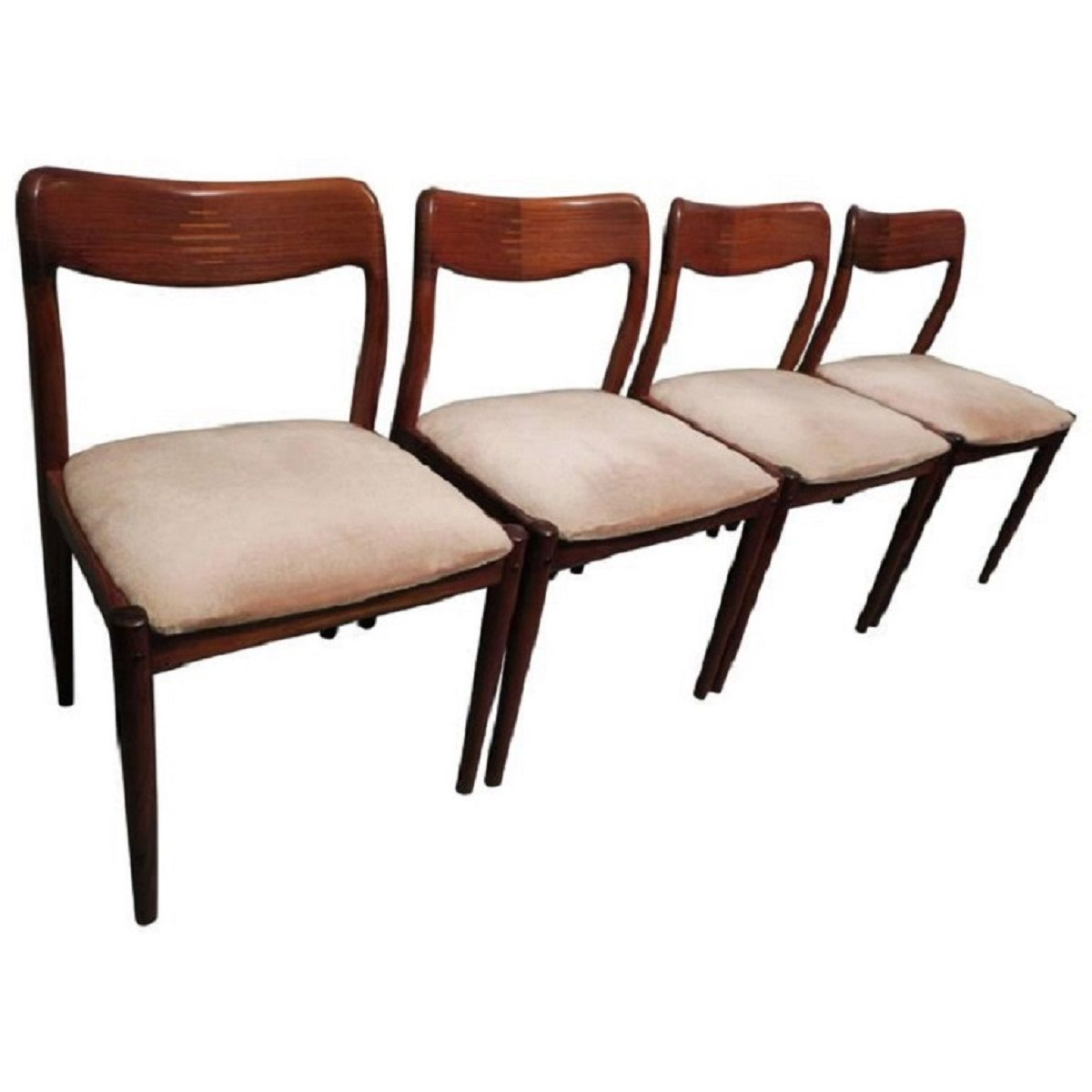 Danish Rosewood Inlaid Dining Chairs 1960s Set Of 4 For Sale At Pamono