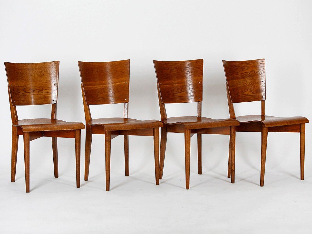 Chaises de salle manger model h 59 par jindrich halabala for Salle a manger 1930