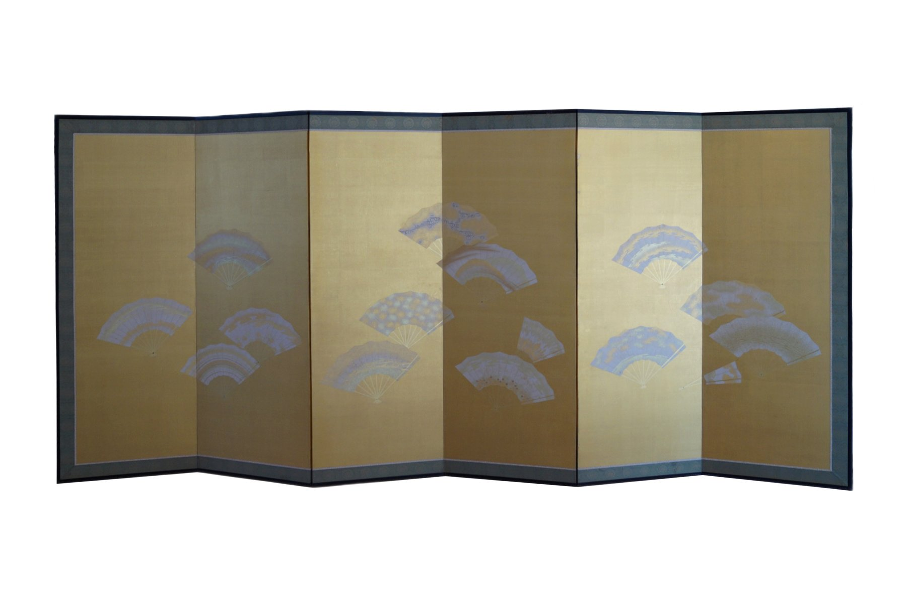 Folding Screen Meiji Showa Period Japanese Six Panel Folding Screen For Sale At