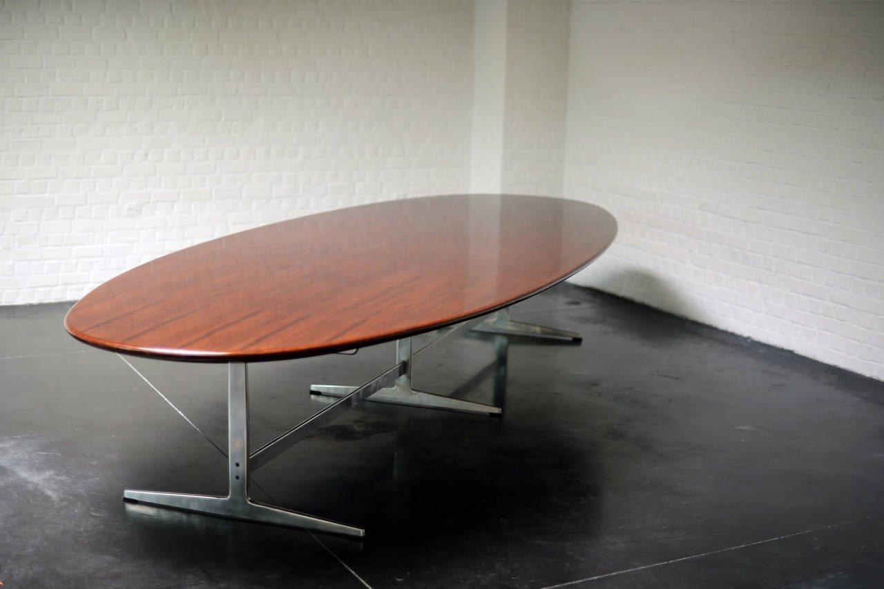 tavolo da pranzo vintage in wengé di arne jacobsen per fritz ... - Tavolo Soggiorno Wenge 2