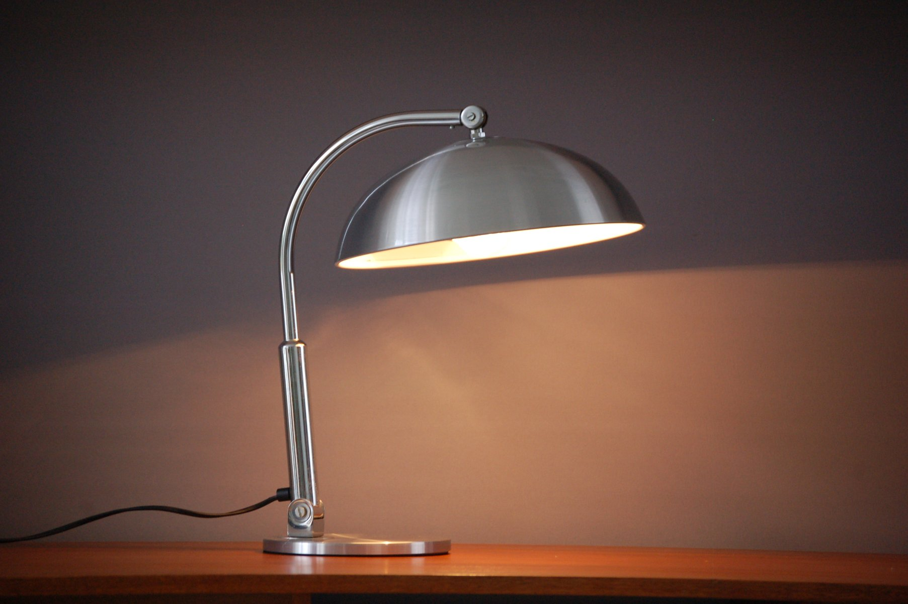 Dutch Silver Desk Lamp from H.Busquet for Hala Zeist for sale at ...
