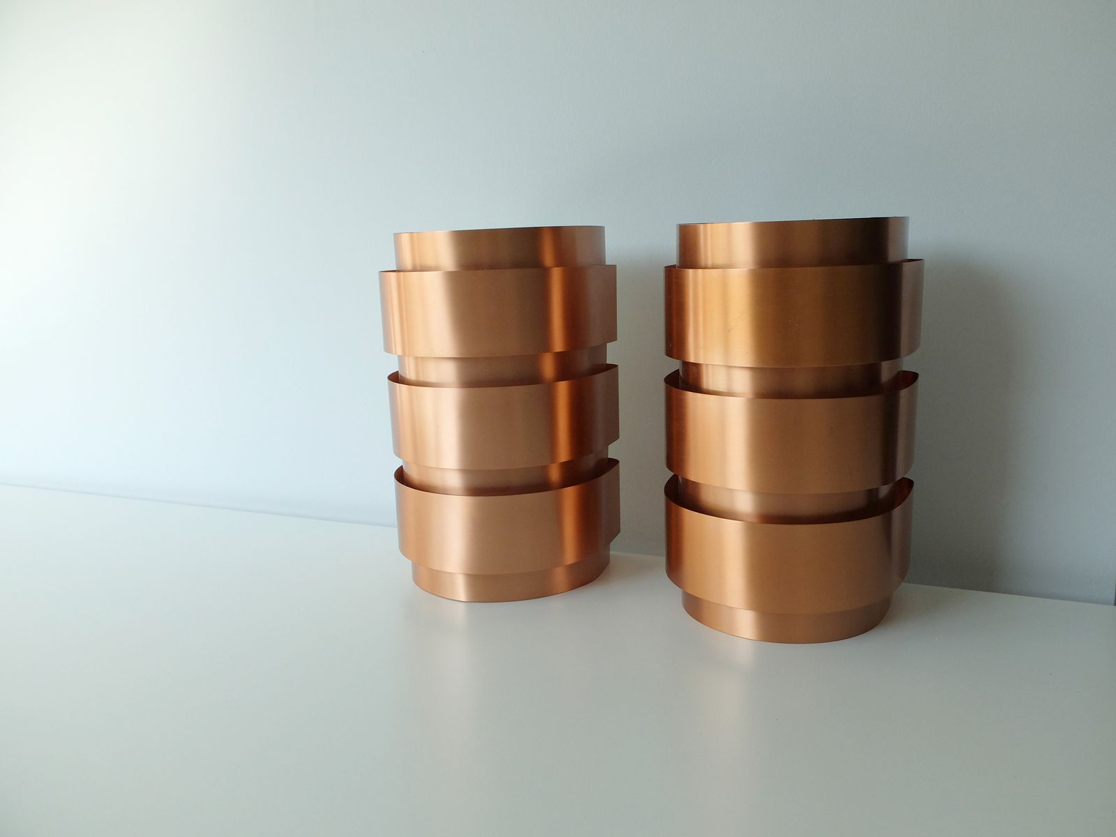 Vintage Scandinavian Copper Wall Lights by Hans-Agne Jakobsson for Markaryd, Set of 2 for sale ...