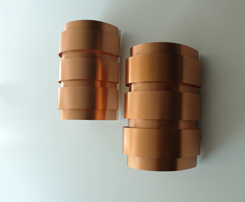 Vintage Copper Wall Lights : Vintage Scandinavian Copper Wall Lights by Hans-Agne Jakobsson for Markaryd, Set of 2 for sale ...