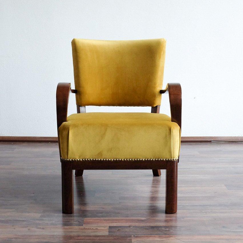 slowakischer art deco sessel 1930er bei pamono kaufen. Black Bedroom Furniture Sets. Home Design Ideas