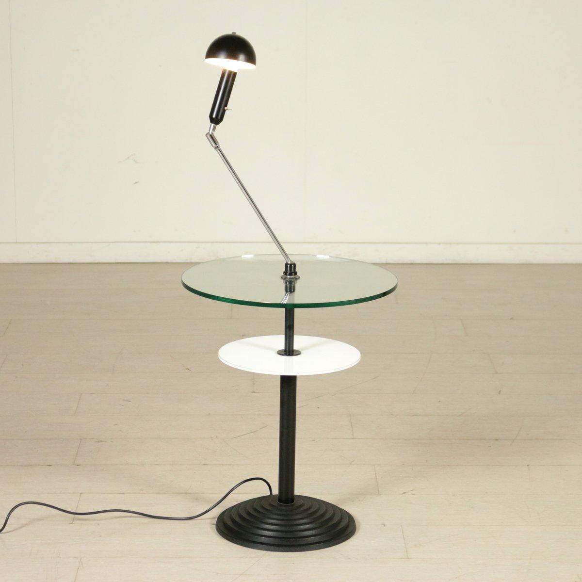 lampadaire model altair 2755 avec table par daniela puppa franco raggi pour fontana arte 1988. Black Bedroom Furniture Sets. Home Design Ideas