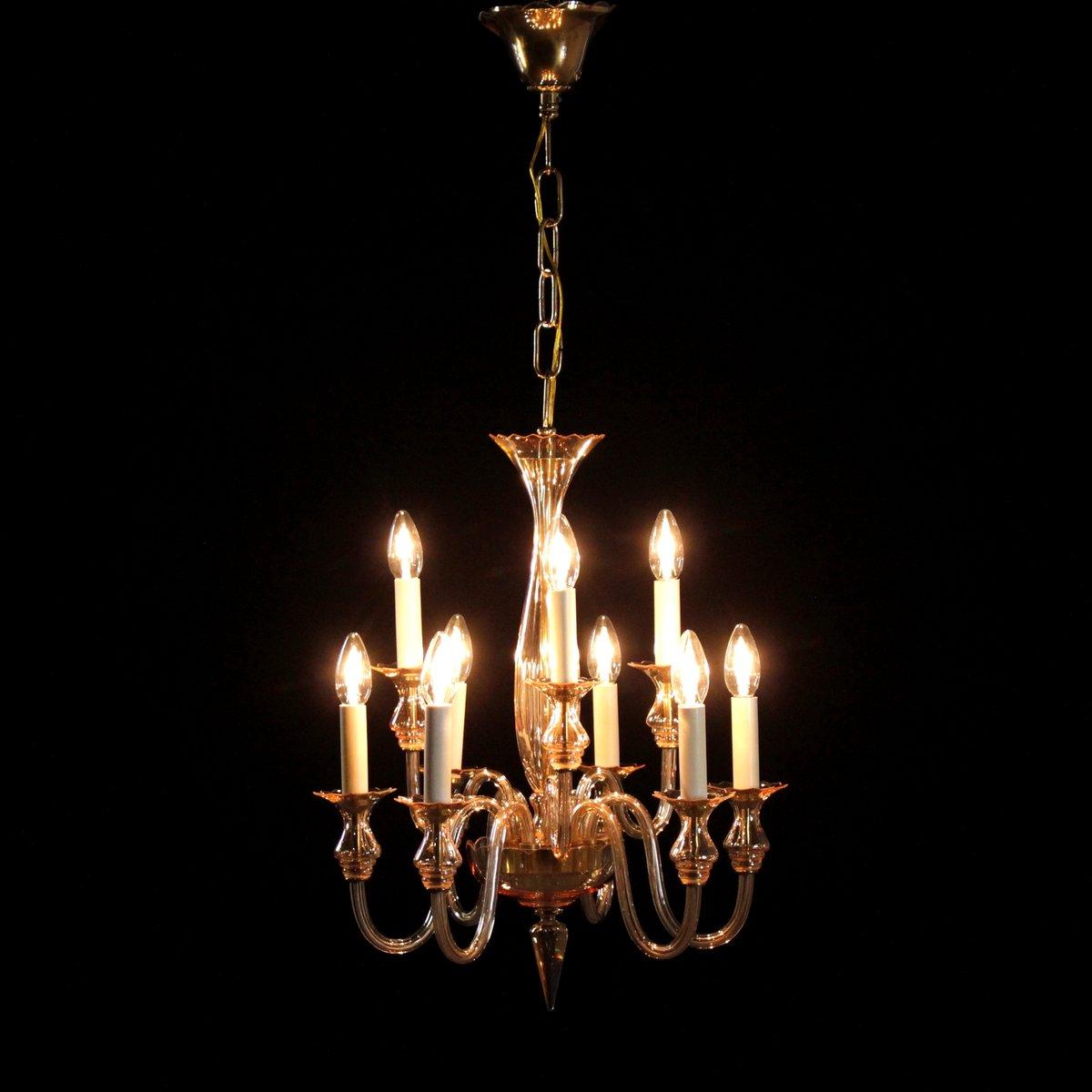 lampe suspension vintage en verre souffl italie en. Black Bedroom Furniture Sets. Home Design Ideas