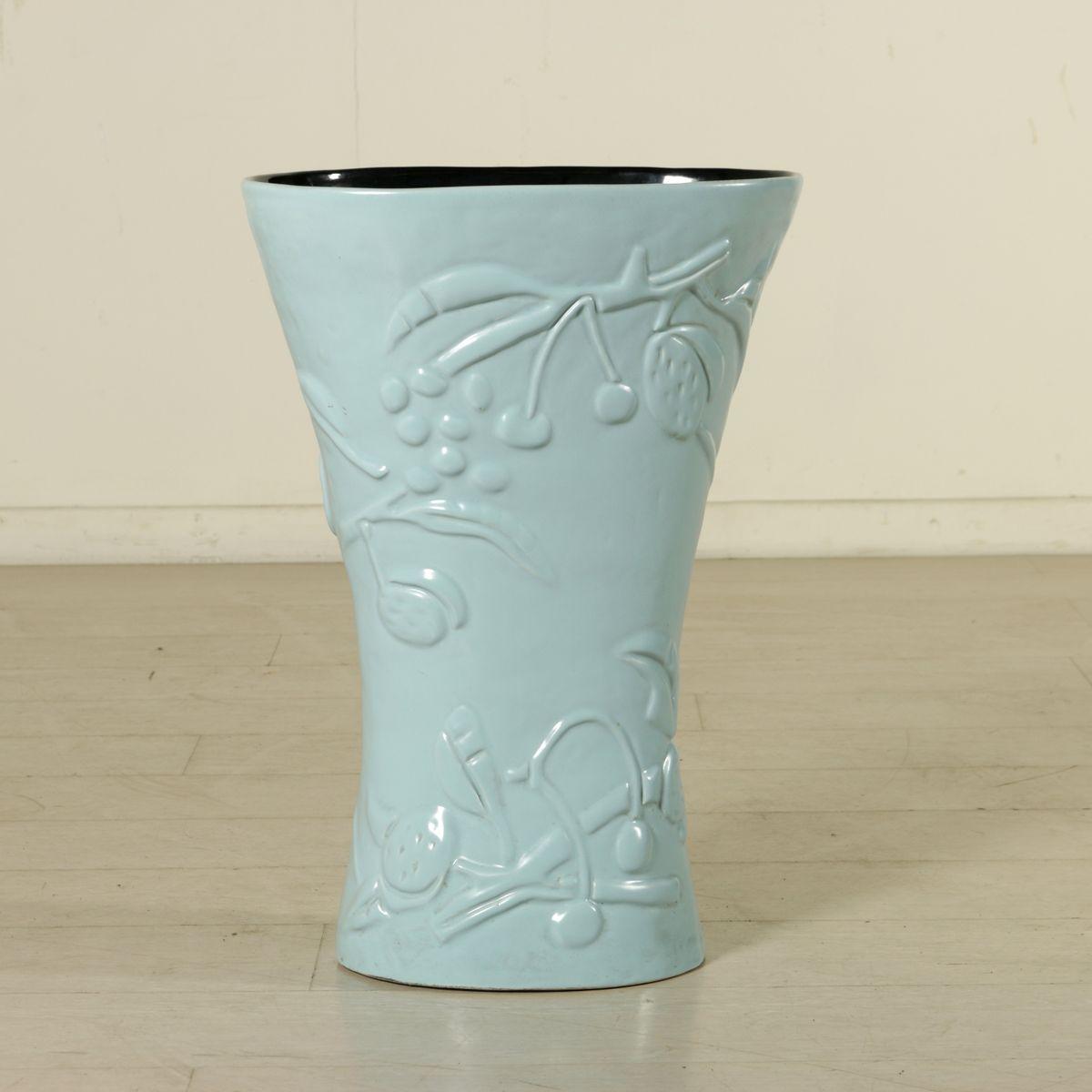 Keramik Vase oder Schirmständer von Antonia Campi für Società Ceramica Italiana Laveno, 1950er ...